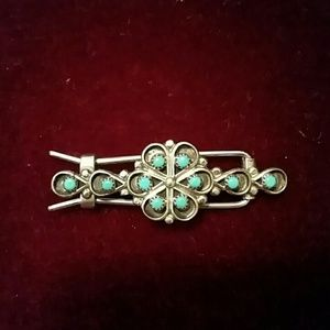 Sterling Silver & Turquoise Hair Clip